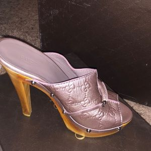 Gucci Mauve Guccissima Mules/Slides